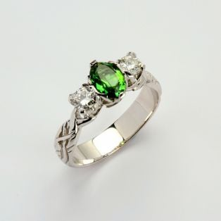 Ladies 0.50 Diamond Tourmaline Livia Collection Ring