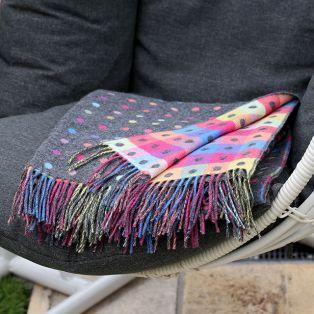 Foxford Gray Multispot Blanket