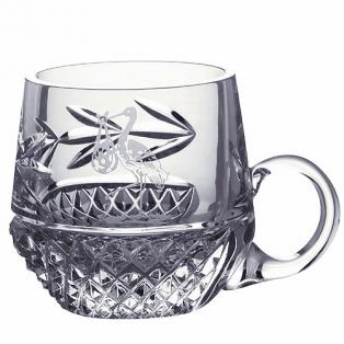 Crystal Stork Christening Mug