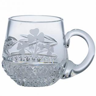 Crystal Shamrock Christening Mug