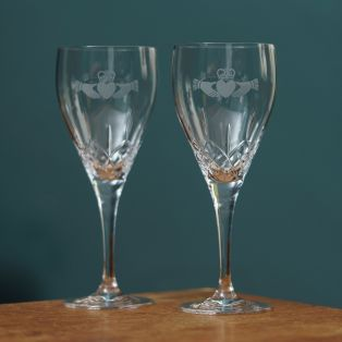 Galway Crystal Claddagh Red Wine Glasses