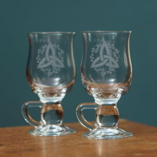 Galway Crystal Shamrock Latte Glasses