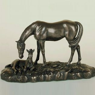 Genesis Mare and Foal Sculpture