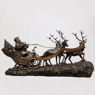 Genesis Santa on Sleigh Christmas Figurine