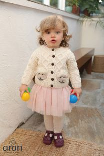 Hand Knit Baby Aran Cardigan
