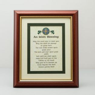Framed Irish Blessing Print
