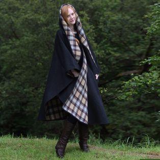 Classic Charcoal Wool Walking Cape