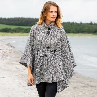 Hourihan Belted Tweed Cape