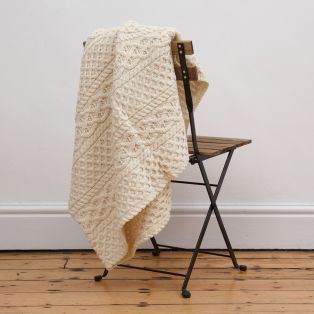 Natural Aran Blanket