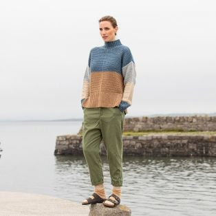 The Fanad Funnel Neck Sweater