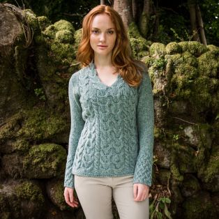 The Horseshoe Cable Aran Sweater