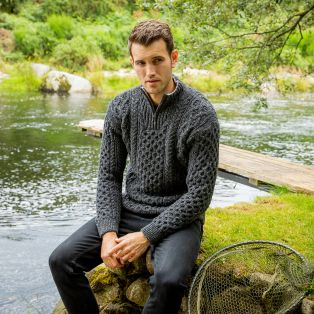 Men's Curragh Cable Aran Sweater
