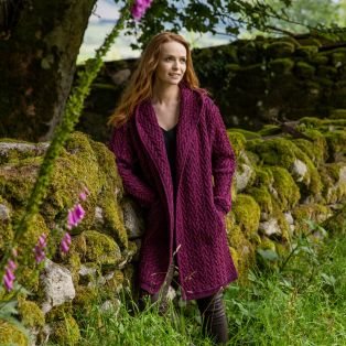 Purple Kilfane Waterfall Cardigan