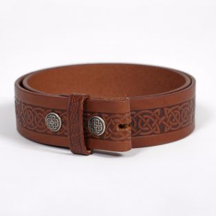 Men's Setanta Celtic Leather Belt