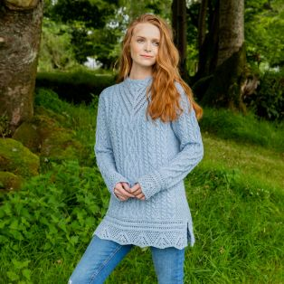 Lismore Sky Aran Tunic Sweater