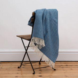 Mc Nutt Blue Sky Herringbone Blanket