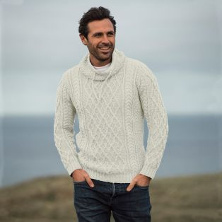 Mens Atlantic Aran Sweater