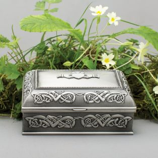 Mullingar Pewter Claddagh Jewelry Box