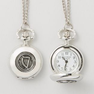 Mullingar Pewter Harp Ladies Pendant Watch