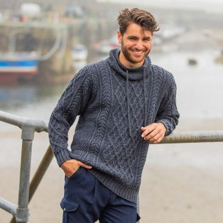 Mens Atlantic Aran Sweater