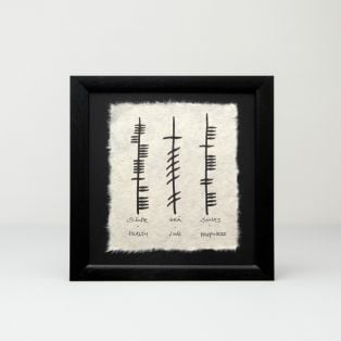 Ogham Health Love & Happiness Print