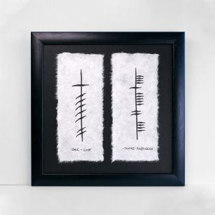 Ogham Love and Happiness Double Gift