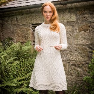 The Skellig Aran Dress