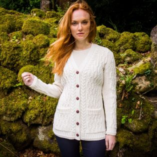The Inisheer Aran Boyfriend Cardigan