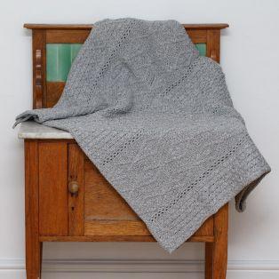 Cream Diamond Aran Blanket