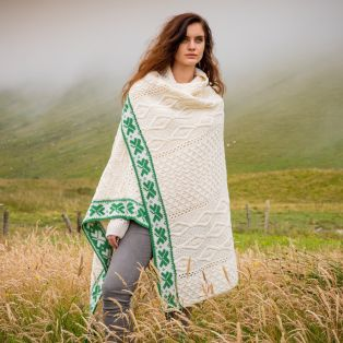 The Aran Shamrock Blanket