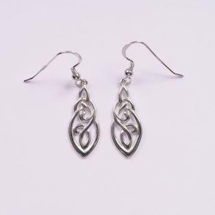 Ornate Trinity Knot Drop Earrings