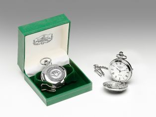 Personalized Mullingar Pewter Claddagh Pocket Watch