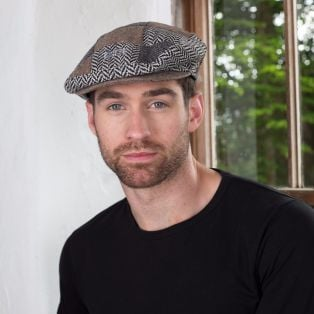 Men's Tweed Patchwork Cap