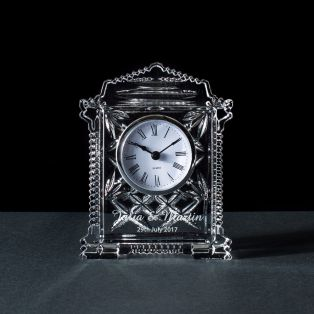 Personalized Galway Crystal Lynch Carriage Clock