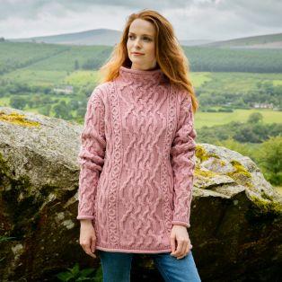 Rathlin Aran Tunic Sweater
