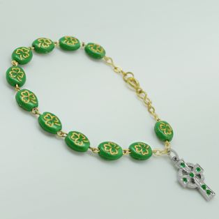Shamrock of Ireland Rosary Bracelet