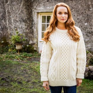 Women's Donegal Hand Knit Aran Sweater