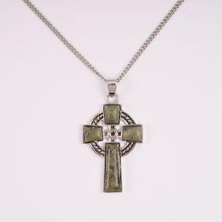 Marble Celtic Cross Pendant