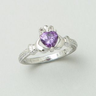 The Claddagh Birthstone Ring February