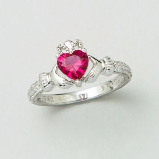 The Claddagh Birthstone Ring July