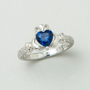 The Claddagh Birthstone Ring September