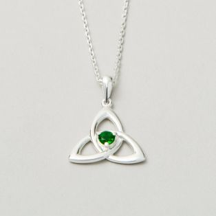 Emerald Green Trinity Pendant