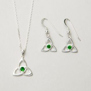 Emerald Green Trinity Jewelry Set