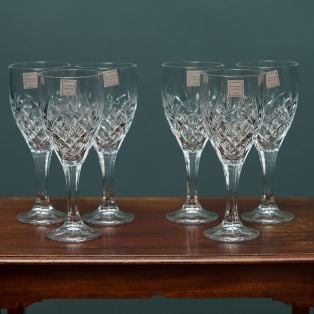 Tipperary Crystal Belvedere Set of 6 Wine Glasses