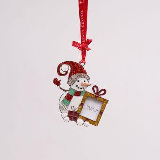 Tipperary Crystal Sparkle Snowman Frame