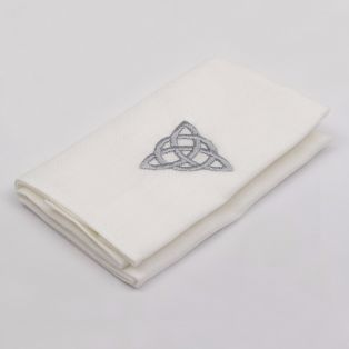 Irish Linen Celtic Knot Handkerchief