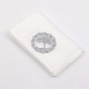 Irish Linen Tree of Life Handkerchief