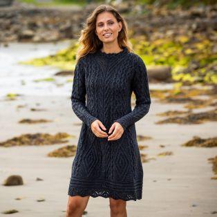 Glenmore Charcoal Aran Dress