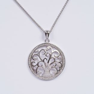 Tree of Life Silver Pendant