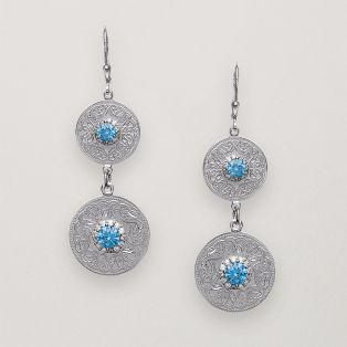 Celtic Warrior Earrings Blue